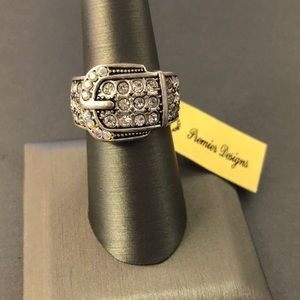 Premier Designs SILVER BUCKLE UP RING